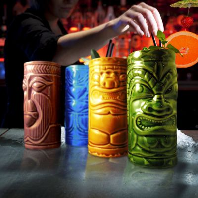 Tiki Cocktailbecher 4er-Set