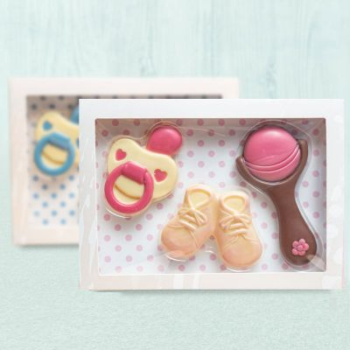 Baby-Sets aus Schokolade
