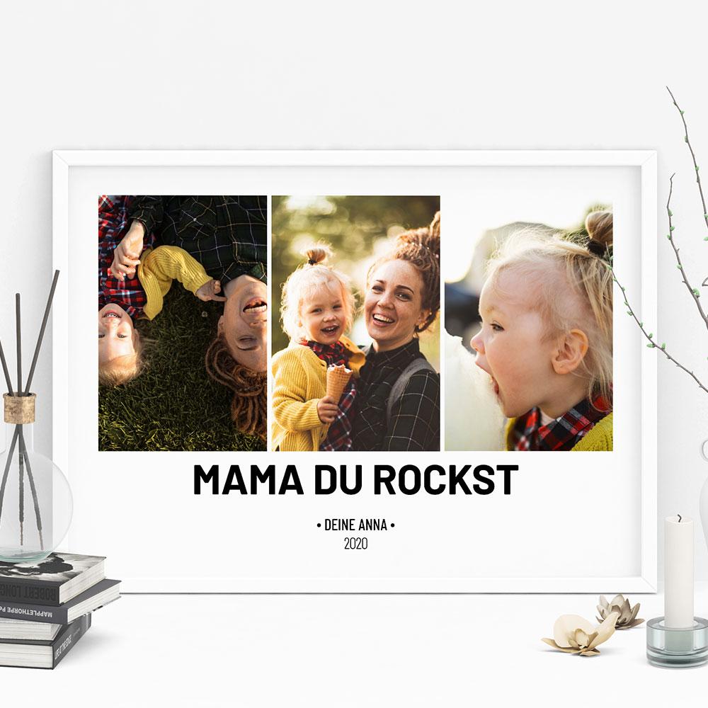 muttertagsgeschenk fotoposter personalisierbar mit text